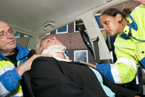Whiplash car accident neck brace